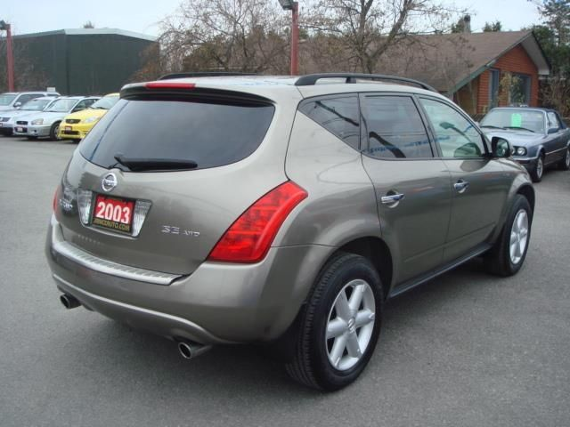 2003 nissan murano se ottawa ontario used car for sale. Black Bedroom Furniture Sets. Home Design Ideas