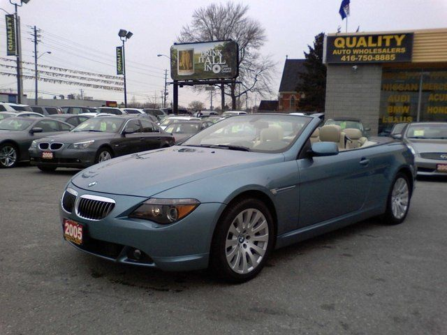 2005 bmw 6 series 645ci cabriolet scarborough ontario used car for sale. Black Bedroom Furniture Sets. Home Design Ideas