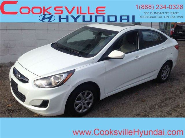 2012 Hyundai Accent GL, AUTO, SUNROOF in Mississauga, Ontario