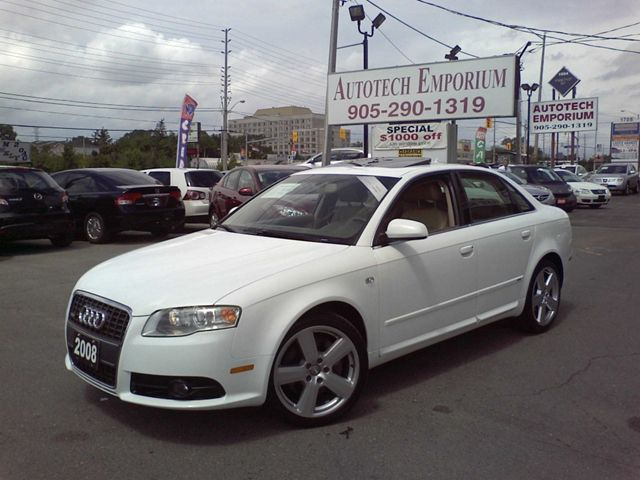 2008 audi a4 2 0t quattro pearl white s line gps mississauga ontario used car for sale. Black Bedroom Furniture Sets. Home Design Ideas