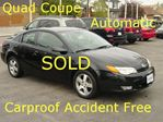 2007 Saturn ION Ion.3 Quad Coupe Carproof Accident Freee in Hamilton, Ontario