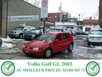 2003 Volkswagen Golf           in Longueuil, Quebec