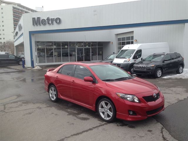 2010 toyota corolla xrs ottawa ontario used car for sale. Black Bedroom Furniture Sets. Home Design Ideas