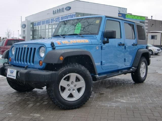 2010 jeep wrangler unlimited islander 4x4 barrie ontario used car. Cars Review. Best American Auto & Cars Review