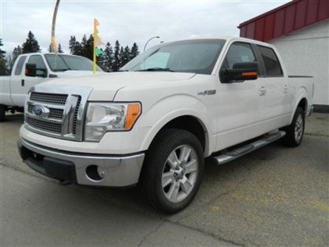 2009 ford f 150 lariat pearl white ext white deals on. Black Bedroom Furniture Sets. Home Design Ideas