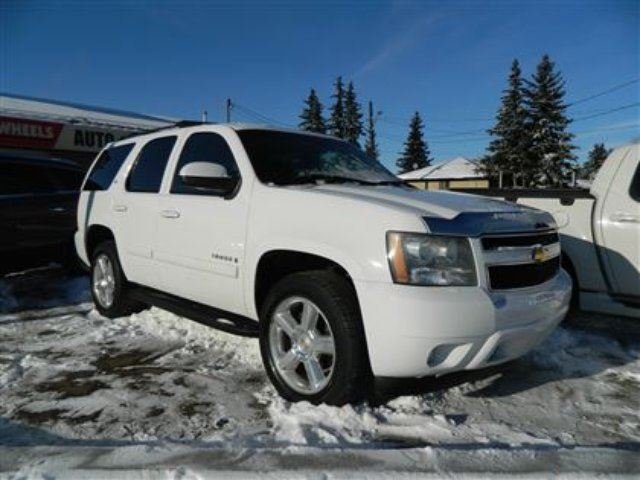2007 chevrolet tahoe ltz white deals on wheels edmonton. Black Bedroom Furniture Sets. Home Design Ideas