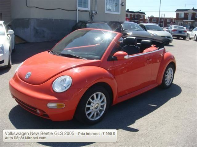 2005 volkswagen new beetle gls mirabel quebec used car for sale 1414771. Black Bedroom Furniture Sets. Home Design Ideas