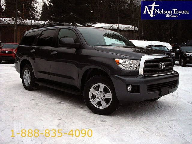2012 toyota sequoia sr5 with heated leather seats dark grey nelson toyota. Black Bedroom Furniture Sets. Home Design Ideas