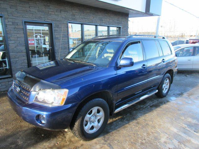 2003 Toyota Highlander Base V6 All Wheel Drive Blue