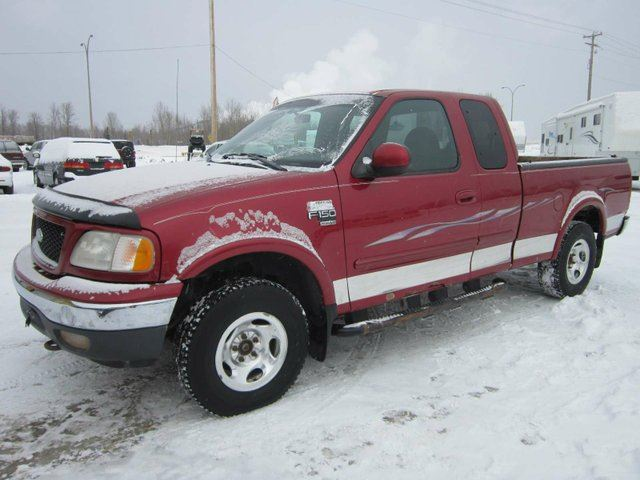 1999 ford f 150 xlt 4x4 super cab styleside 139 in wb red. Black Bedroom Furniture Sets. Home Design Ideas
