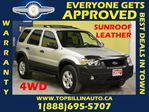 2007 Ford Escape 4X4 * LEATHER * SUNROOF * in Vaughan, Ontario
