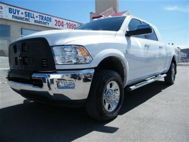 2012 ram 2500 diesel mega cab laramie longhorn white. Black Bedroom Furniture Sets. Home Design Ideas