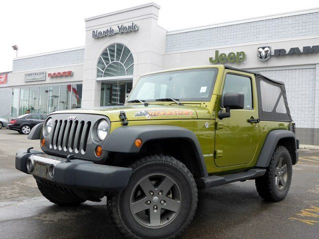 2010 jeep wrangler mountain 4x4 clean car proof tow hitch a c auto thornhill ontario used car. Black Bedroom Furniture Sets. Home Design Ideas