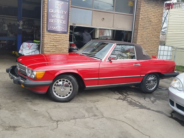 1988 mercedes benz 560 series 560sl red for 21900 in st for Mercedes benz st catharines