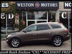 2008 Buick Enclave *CXL*ACCIDENT FREE*NAVI*BACKUP CAM*DUAL SUNROOF*CAPTAIN CHAIRS*CHROME TIRES*HEATED SEATS* in York, Ontario