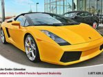 2006 Lamborghini Gallardo Gallardo Spyder - Rare exotic sports car, local trade in with no accidents, only 10467 kms and 512 horsepower! in Edmonton, Alberta