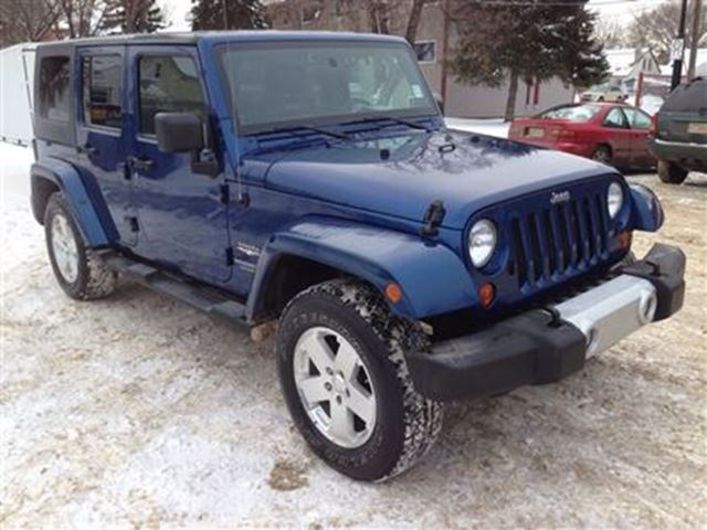 2009 jeep wrangler unlimited sahara leather removable roof doors blue touchdown auto. Black Bedroom Furniture Sets. Home Design Ideas