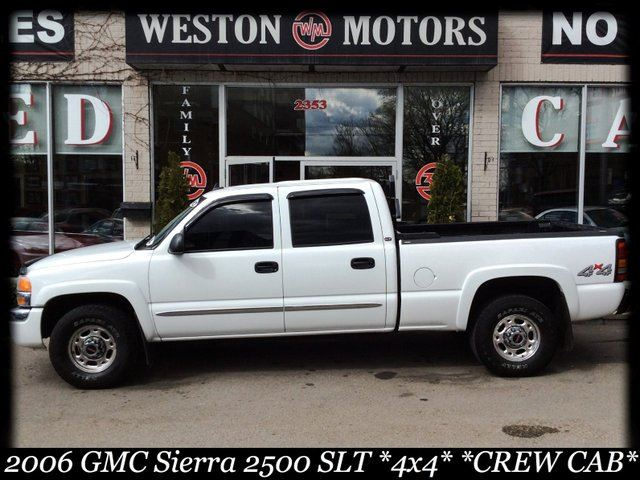 2006 gmc sierra 2500hd slt 2500hd 4x4 crew cab leather. Black Bedroom Furniture Sets. Home Design Ideas
