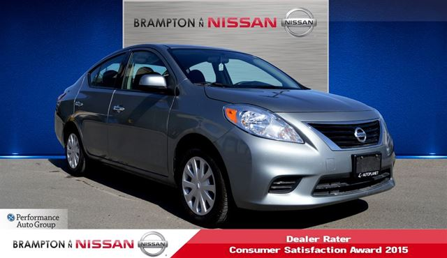 2014 nissan versa sv sedan brampton ontario used car. Black Bedroom Furniture Sets. Home Design Ideas