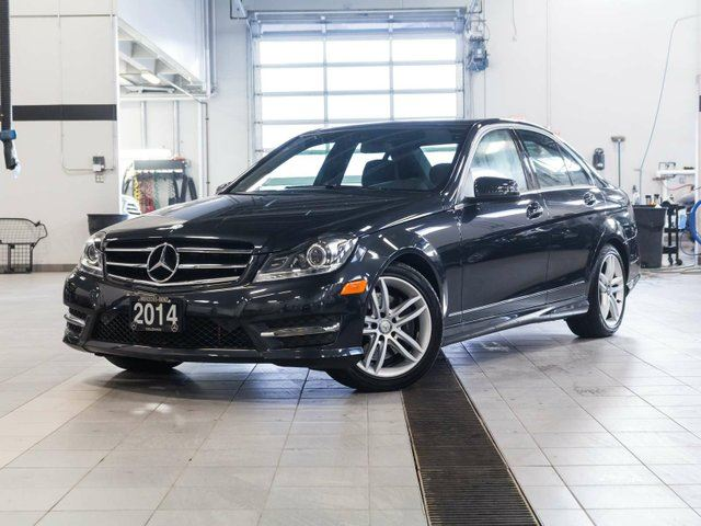 2014 mercedes benz c class c300 4matic black kelowna for Mercedes benz c300 black rims