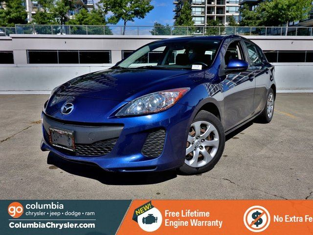 2013 MAZDA MAZDA3 GX, LOCALLY DRIVEN, GREAT CONDITION, NO DEALERSHIP FEES, FREE LIFETIME ENGINE WARRANTY! in Richmond, British Columbia