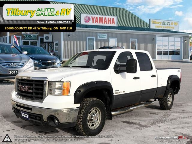 2007 GMC Sierra 2500  HD Crew Cab **AS IS** 4x4. LOADED. V8 in Tilbury, Ontario