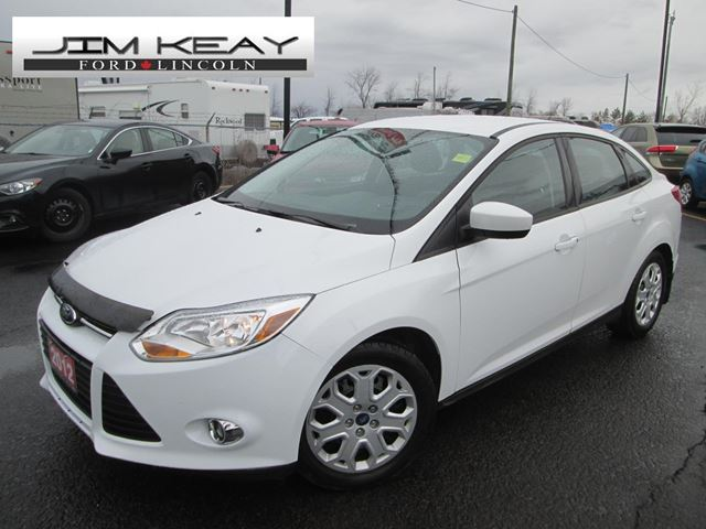 2012 ford focus se sedan white jim keay ford lincoln. Black Bedroom Furniture Sets. Home Design Ideas
