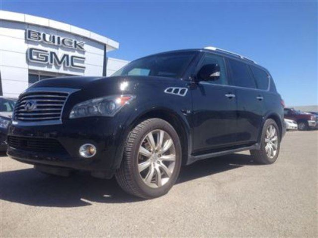 2014 INFINITI QX80 5.6L V8 4x4 7 Pass Around View Monitor Bose Dual R in Port Perry, Ontario