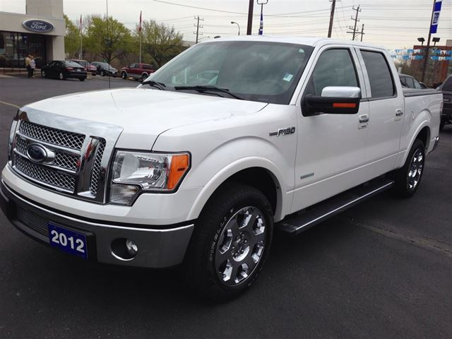 2012 ford f 150 lariat one owner white parkway ford lincoln svt. Black Bedroom Furniture Sets. Home Design Ideas