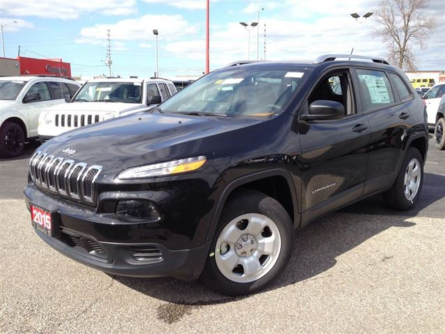2015 Jeep Cherokee Sport 4x4 9 Speed Black Ontario Chrysler