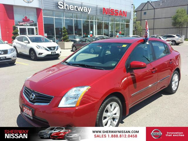 2010 nissan sentra red carmine pearl sherway nissan. Black Bedroom Furniture Sets. Home Design Ideas