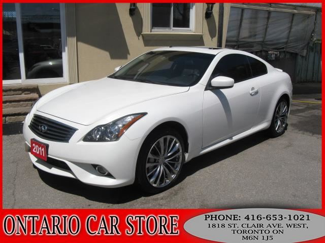 2011 infiniti g37x s awd navigation white ontario car. Black Bedroom Furniture Sets. Home Design Ideas
