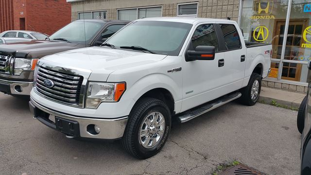 2011 ford f 150 ecoboost supercrew 4x4 truck crew cab white shine autos. Black Bedroom Furniture Sets. Home Design Ideas