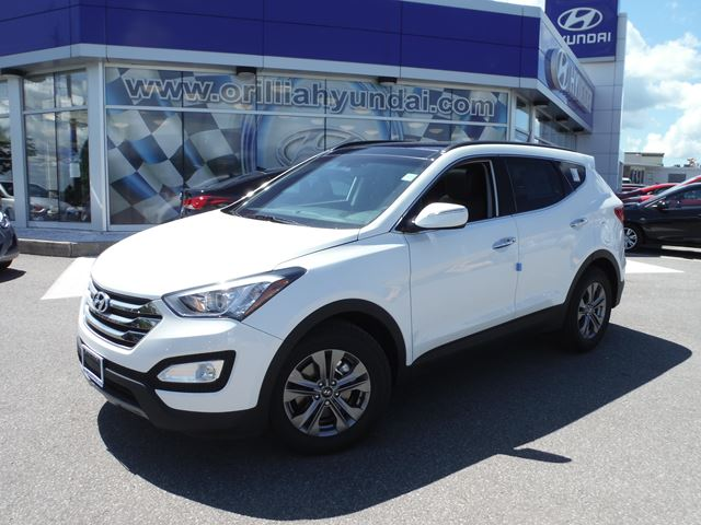 2016 hyundai santa fe white orillia hyundai new car. Black Bedroom Furniture Sets. Home Design Ideas