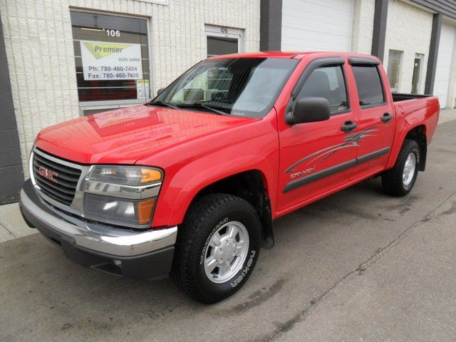 2004 gmc canyon sle 4x4 crew cab 5 ft box 126 in wb red premier auto sales. Black Bedroom Furniture Sets. Home Design Ideas