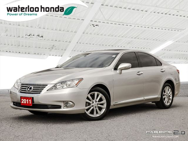 2011 lexus es 350 one owner silver waterloo honda. Black Bedroom Furniture Sets. Home Design Ideas