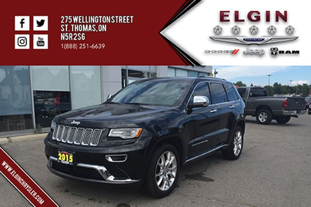 2015 jeep grand cherokee summit leather navi pano b up cam st thomas ontario used car. Black Bedroom Furniture Sets. Home Design Ideas
