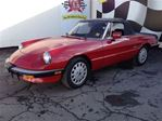 1988 Alfa Romeo Spider Graduate, Manual, Leather, Convertible in Burlington, Ontario