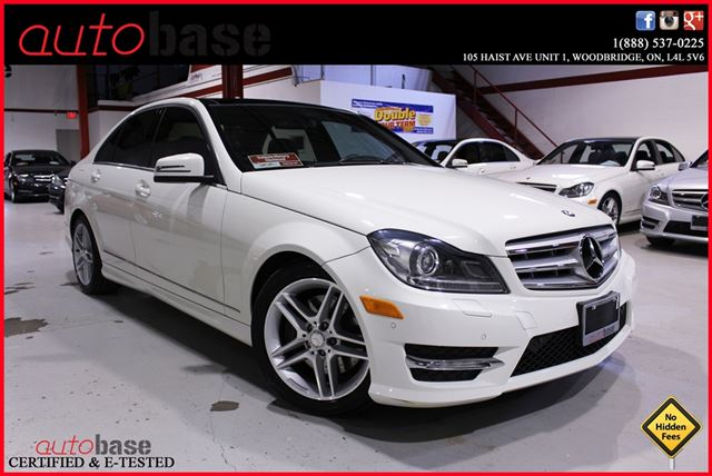 2012 mercedes benz c class c300 4matic navigation premium white autobase. Black Bedroom Furniture Sets. Home Design Ideas