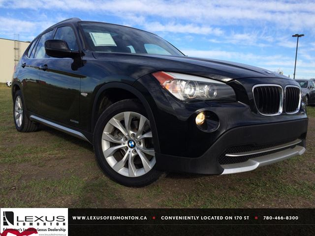 2012 bmw x1 black black sapphire metallic lexus of edmonton. Black Bedroom Furniture Sets. Home Design Ideas
