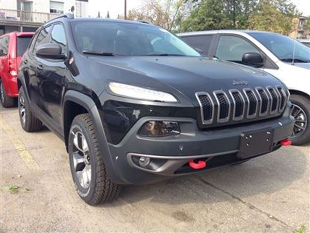 2016 jeep cherokee trailhawk 4x4 black milton chrysler northbaynipissingdailies. Black Bedroom Furniture Sets. Home Design Ideas