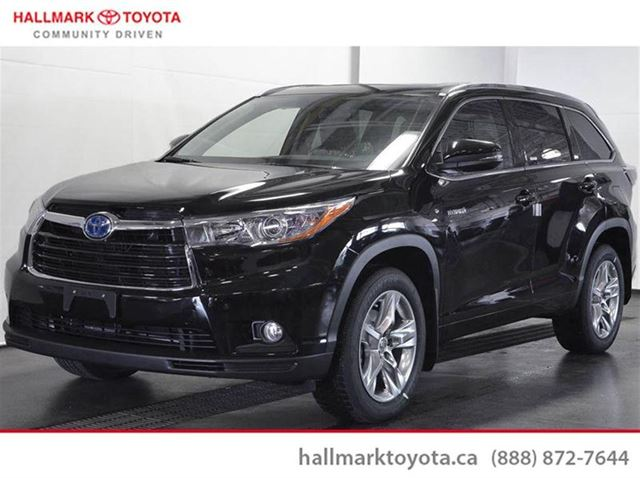 2015 toyota highlander hybrid limited cvt black hallmark toyota. Black Bedroom Furniture Sets. Home Design Ideas