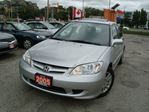 2005 Honda Civic LX-G Only 69km Sunroof Accident Free in Cambridge, Ontario