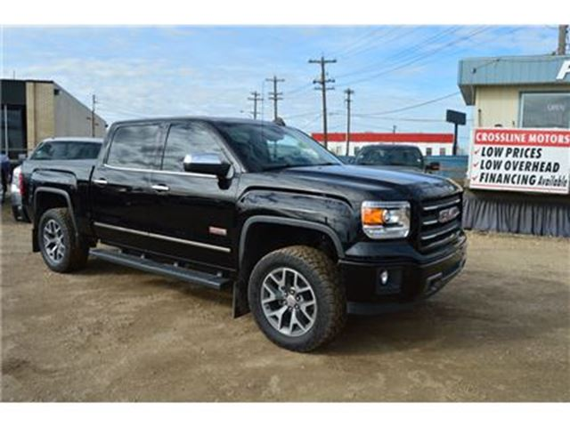 2015 gmc sierra 1500 slt lifted new all terrain tires black. Black Bedroom Furniture Sets. Home Design Ideas