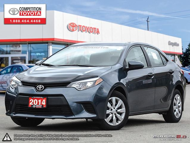 2014 toyota corolla le toyota certified one owner no accidents toyota ser grey competition. Black Bedroom Furniture Sets. Home Design Ideas