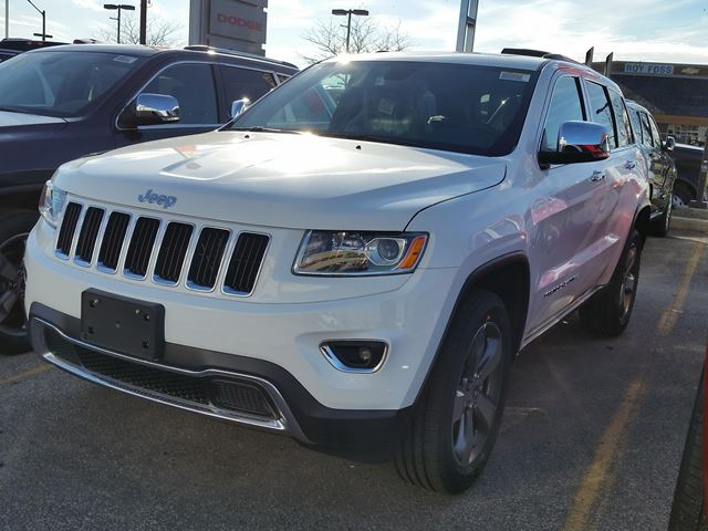 2015 jeep grand cherokee limited 4x4 white vaughan chrysler dodge jeep new car. Black Bedroom Furniture Sets. Home Design Ideas