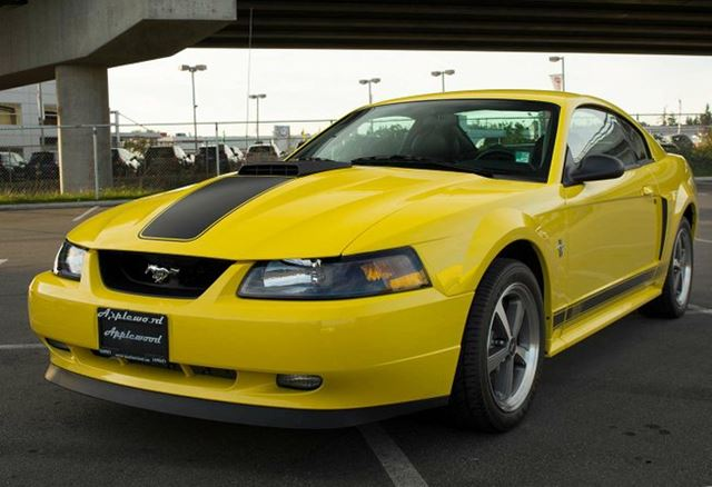 2003 ford mustang gt 2dr coupe yellow applewood langley. Black Bedroom Furniture Sets. Home Design Ideas