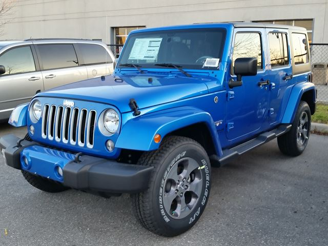 jeep wrangler unlimited sahara 4x4 blue vaughan chrysler dodge jeep. Cars Review. Best American Auto & Cars Review