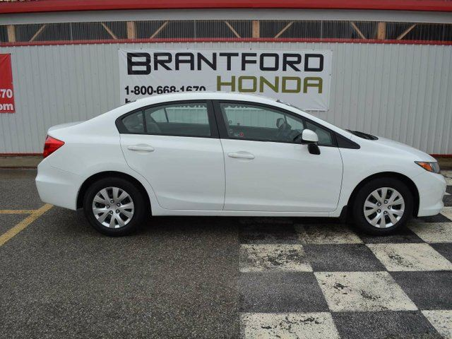 2012 honda civic lx 4dr sedan white brantford honda for 2012 honda civic white