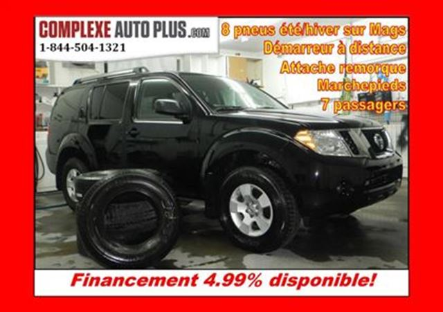 2012 nissan pathfinder s 4x4 8 pneus hiver t demarreur. Black Bedroom Furniture Sets. Home Design Ideas